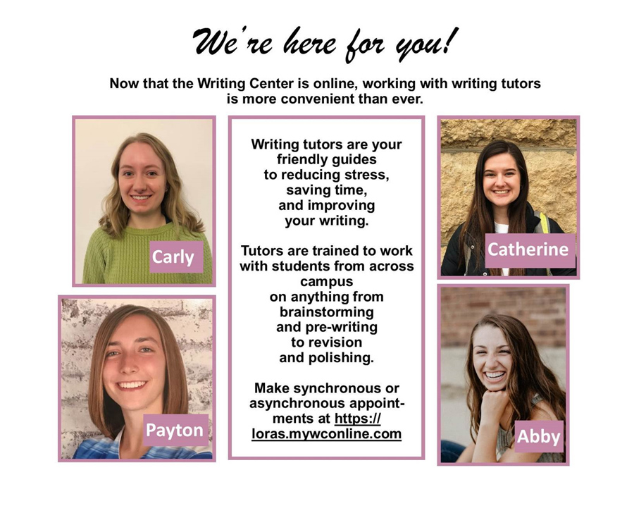 Loras College Writing Center Tutors